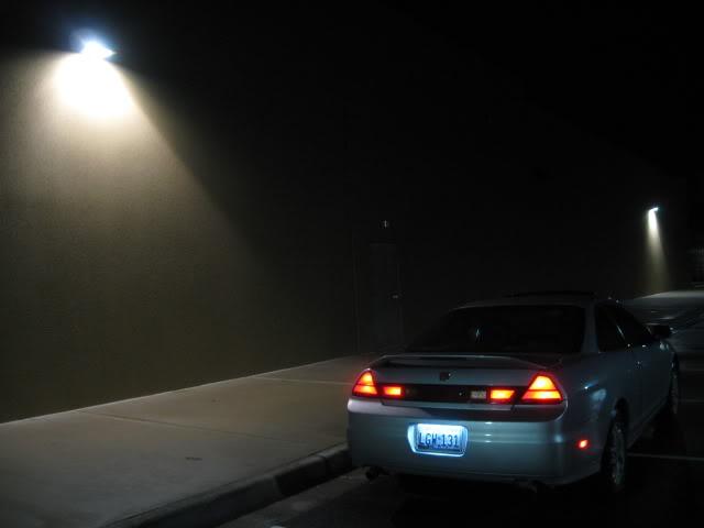COUPE cathode license plate light   Honda Accord DIY