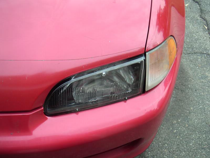 Krylon Flat Black >> EG Black Housing Headlight   Honda Civic DIY