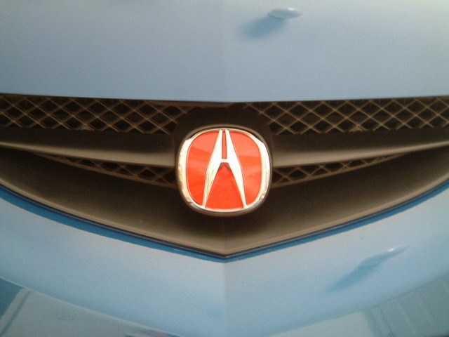 My DIY Red Emblem Front Rear Acura RSX - Acura rsx front emblem