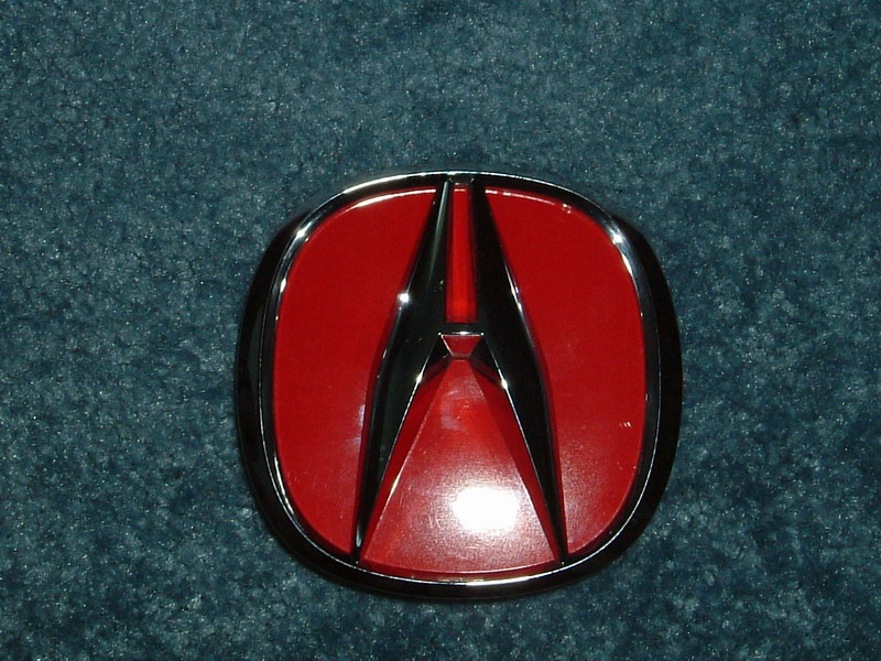 My DIY Red Emblem Front Rear Acura RSX - Red acura emblem