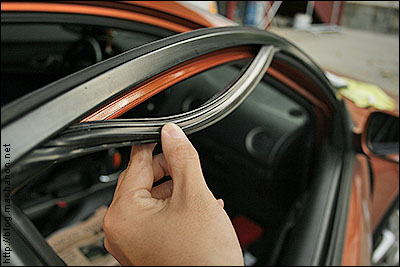 ... door frame. You may need a small flathead screwdriver to help pop out the strip. You do not need to peel off the entire strip just the last half of the ... & weather strip | Acura RSX
