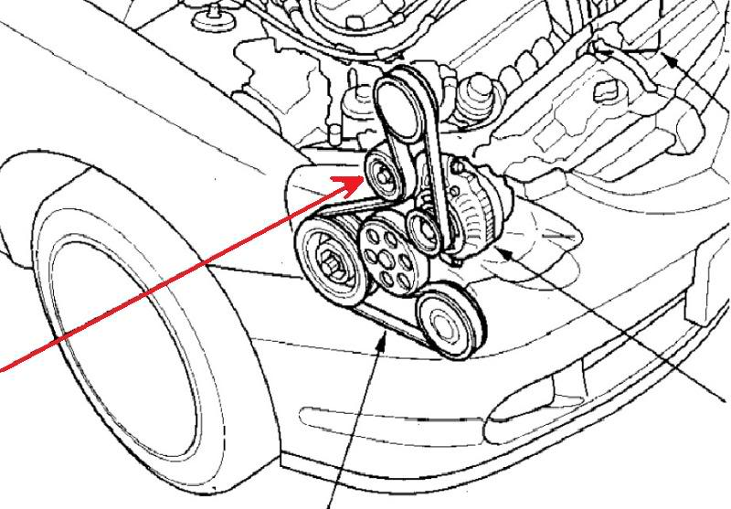Serpentine Belt Change on 2005 acura rsx parts diagram